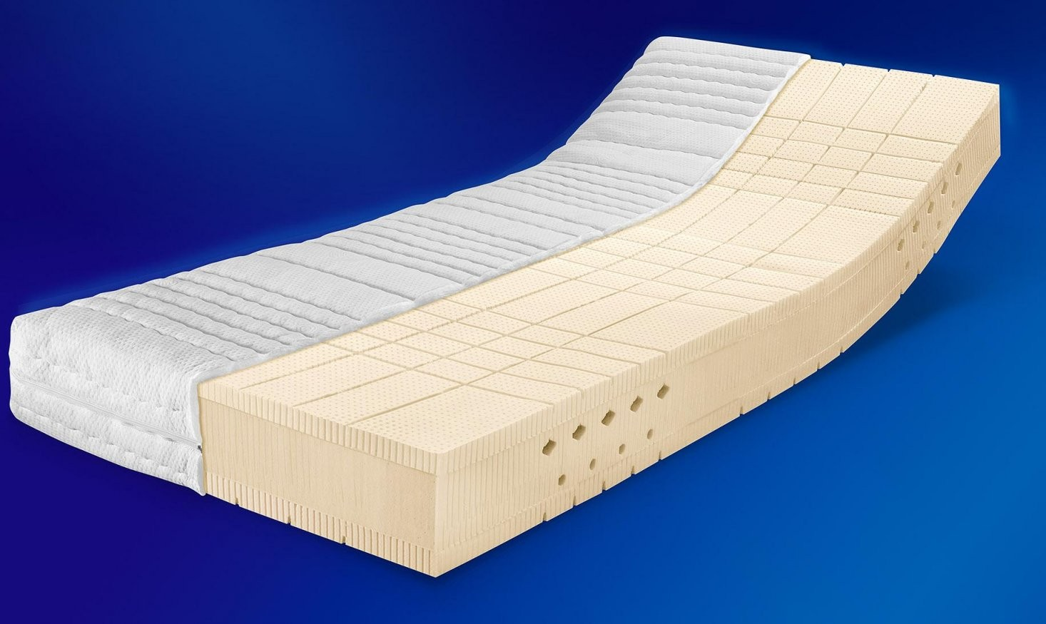 Talalay®  Het Beste Opencellige Talalay Latex Matras von Memory 6 Breckle Visco Topper Bild