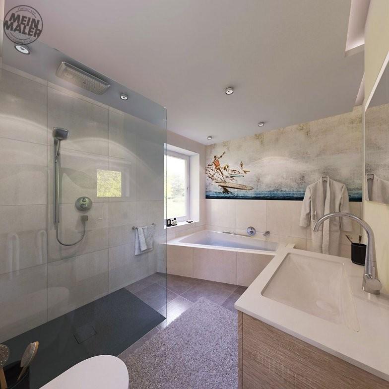 Tapete Im Badezimmer  Wandtapeten Als Kreative Alternative Zu von Wasserfeste Tapete Fürs Bad Bild