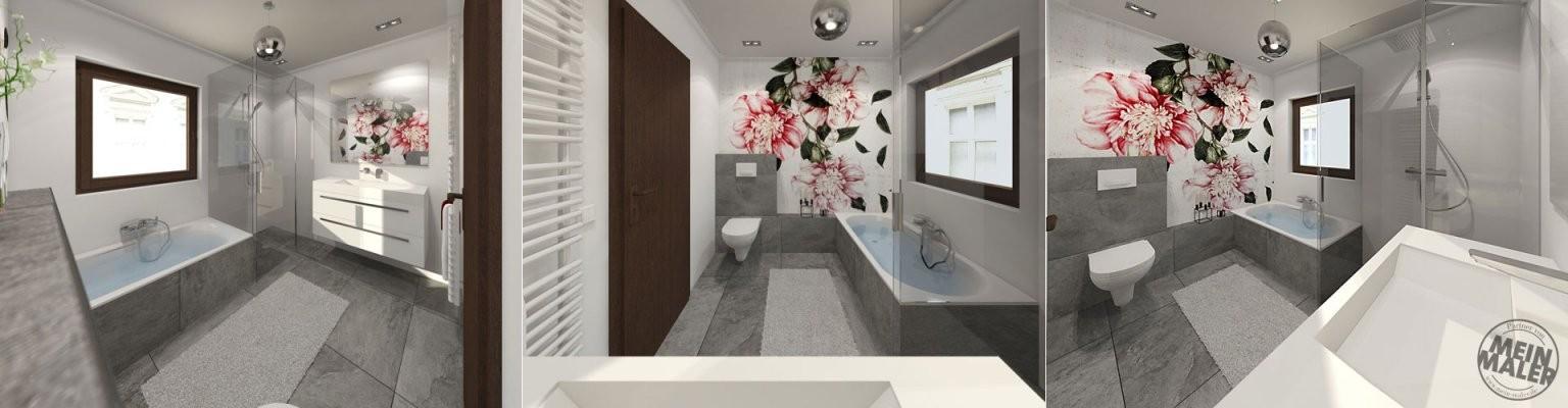 Tapete Im Badezimmer  Wandtapeten Als Kreative Alternative Zu von Wasserfeste Tapete Fürs Bad Photo