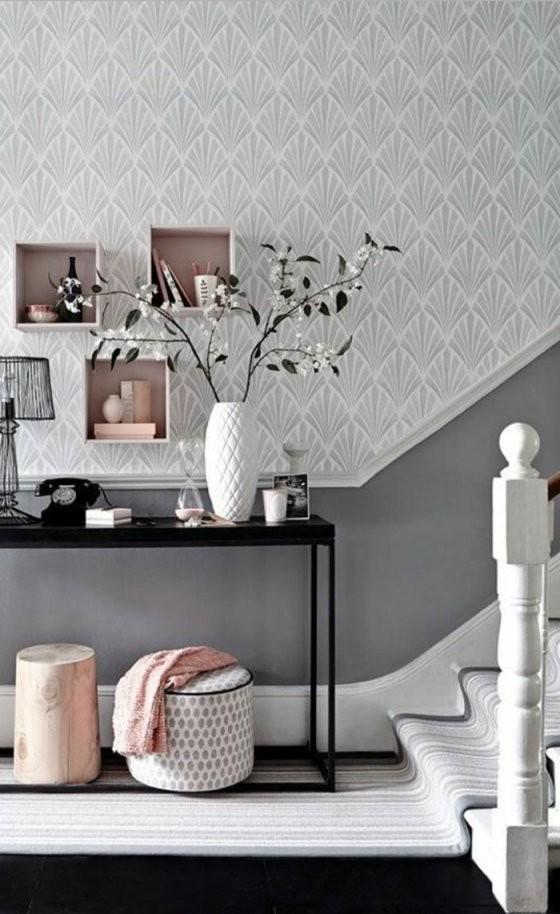 Tapeten Ideen Für Eine Ausgefallene Wandgestaltung von Wandgestaltung Mit Tapeten Wohnzimmer Bild