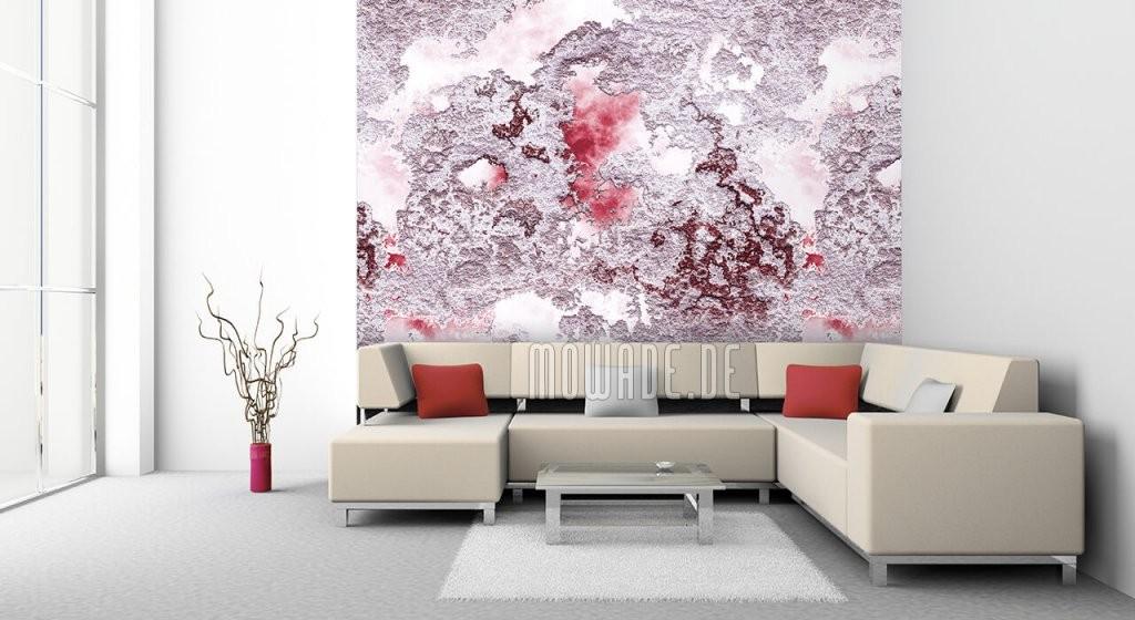 Tapeten Rot – Design Von Mowade® von Wandgestaltung Mit Tapeten Wohnzimmer Bild