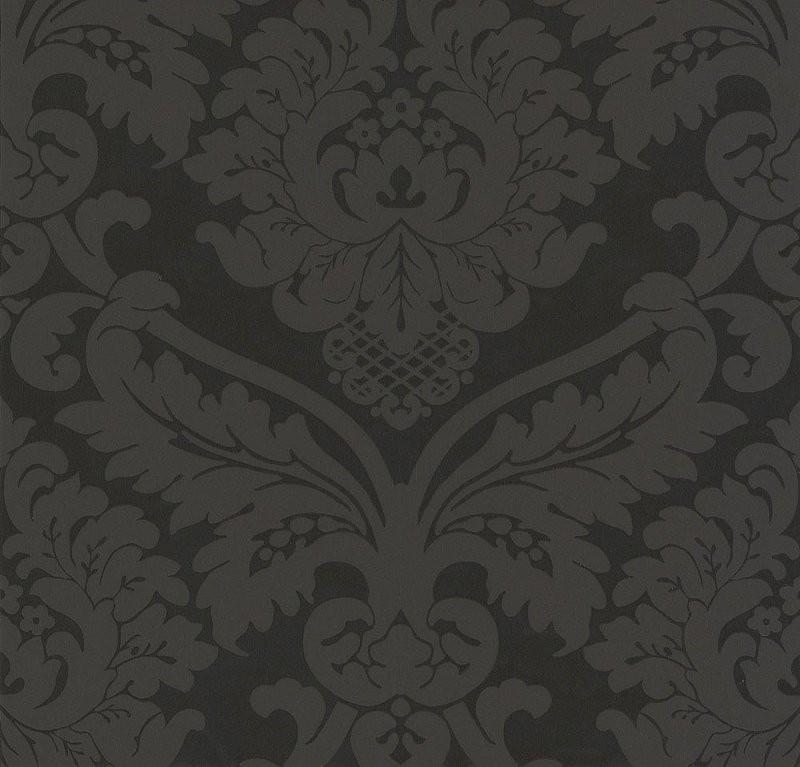 Tapeten Schwarz  Weiß Online Kaufen  Tapeten Onlineshop von Barock Tapete Schwarz Weiß Bild
