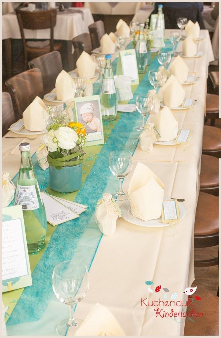 Taufe 30 {Kirchenheft Tischdeko  Co}  Let's Party  Tischdeko von Deko Taufe Selber Machen Bild