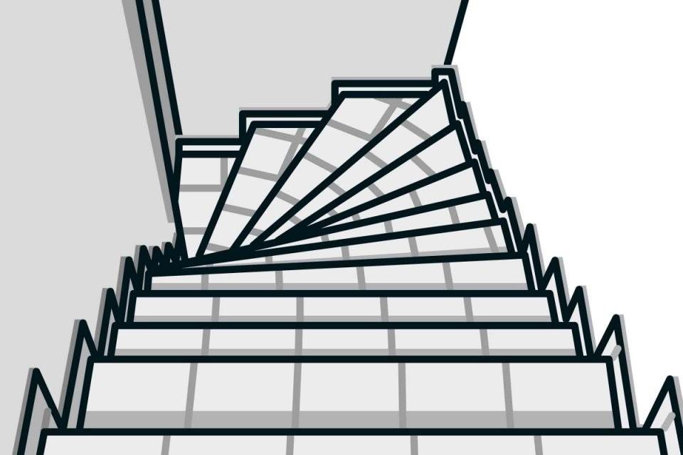 Teppich Auf Einer Treppe Verlegen  Anleitung Von Hornbach von Gewendelte Treppe Fliesen Anleitung Bild