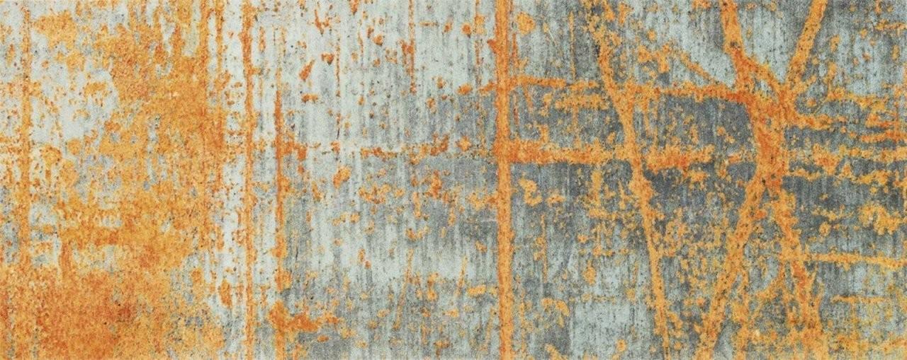 Teppich Läufer Rustik Grau Orange Läufer Modern 80X200 Design Von von Teppich Läufer 80 X 200 Photo