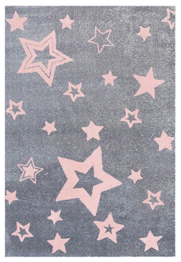 Teppich Mit Sternen Graurosa  Honeyhomech von Teppich Mit Sternen Grau Photo