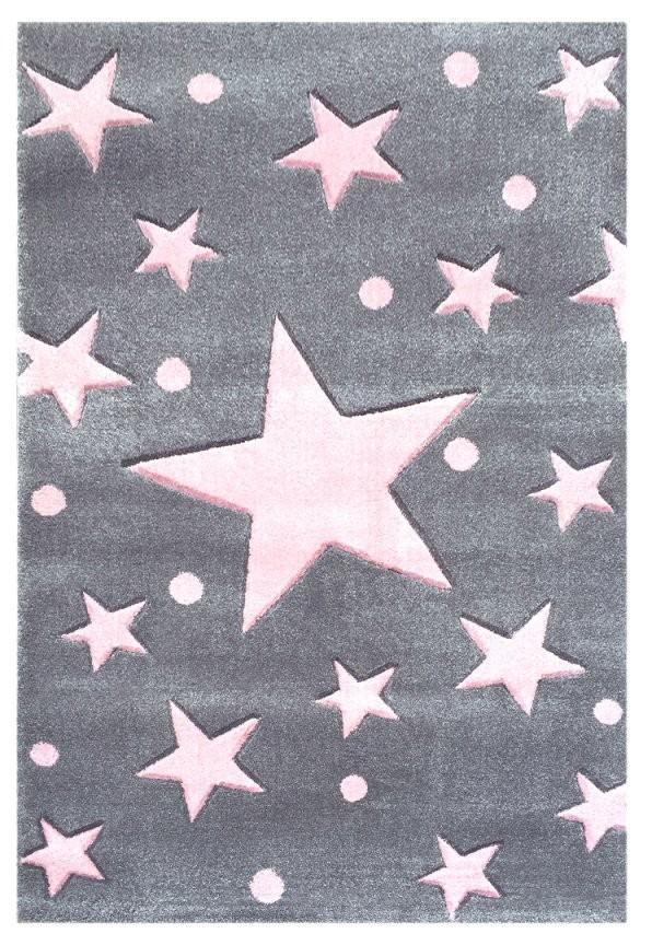 Teppich Sternen Punkten Graurosa  Honeyhomech von Teppich Mit Sternen Grau Bild