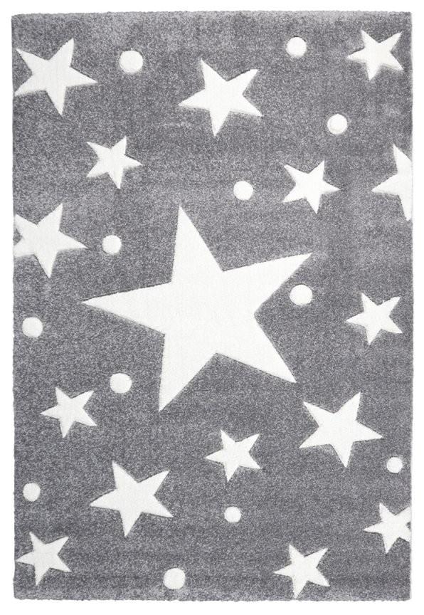 Teppich Sternen Punkten Grauweiss  Honeyhomech von Teppich Mit Sternen Grau Bild