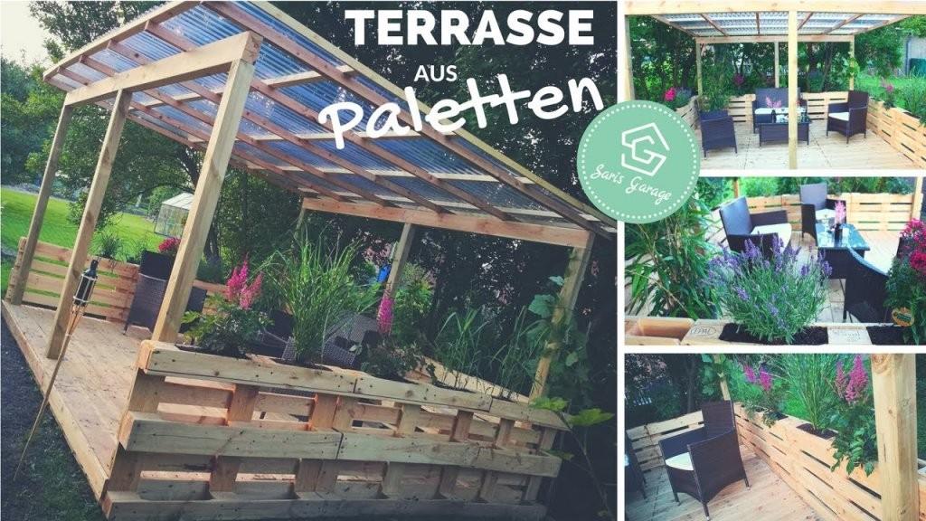 Terrasse Aus Paletten Selber Bauen  Palettenmöbel  Europaletten von Terrasse Selber Bauen Aus Paletten Bild