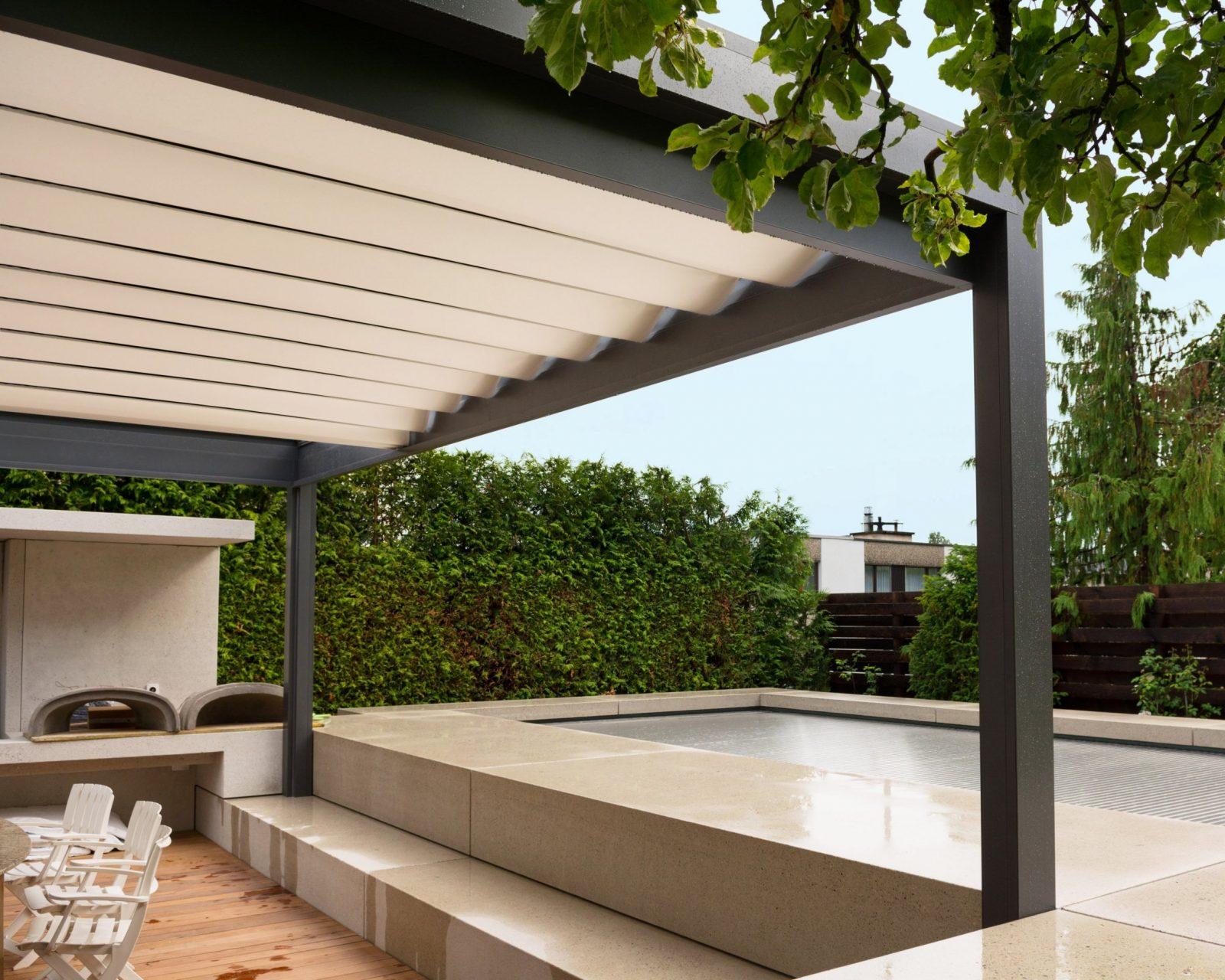 Terrassenpavillon  Melano Tp7100  Bowich von Sonnenschutz Pavillon Mit Faltdach Photo