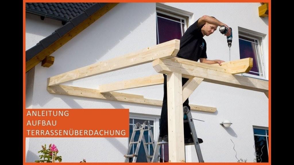 Terrassenüberdachung Aus Holz  Terrassendach Selber Bauen von Überdachung Holz Selber Bauen Bild