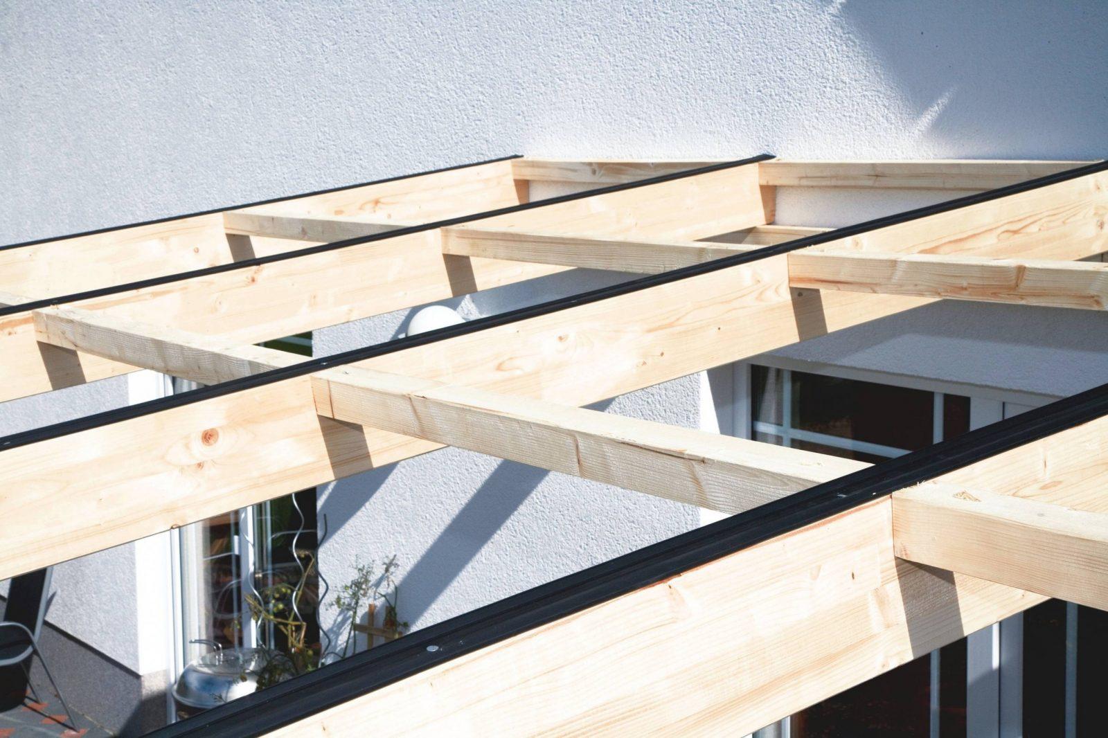 Terrassenüberdachung Selber Bauen Für Planen Holz Überdachung Terrasse von Überdachung Holz Selber Bauen Bild