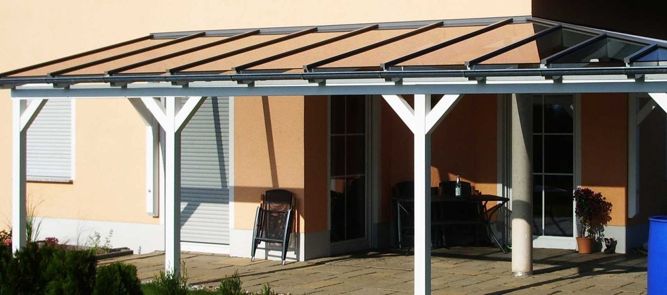Terrassenüberdachung Selber Bauen Glasdach Für Terrasse von Überdachung Holz Selber Bauen Bild