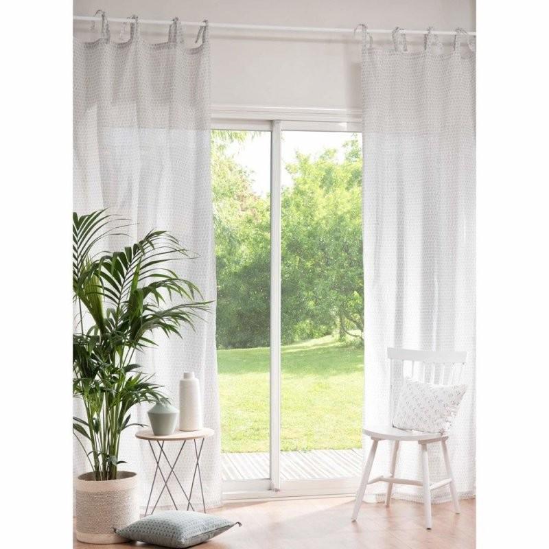 Textil  Vorhänge  Voile Curtains Curtains Cotton von Vorhänge Mit Schlaufen Zum Binden Photo
