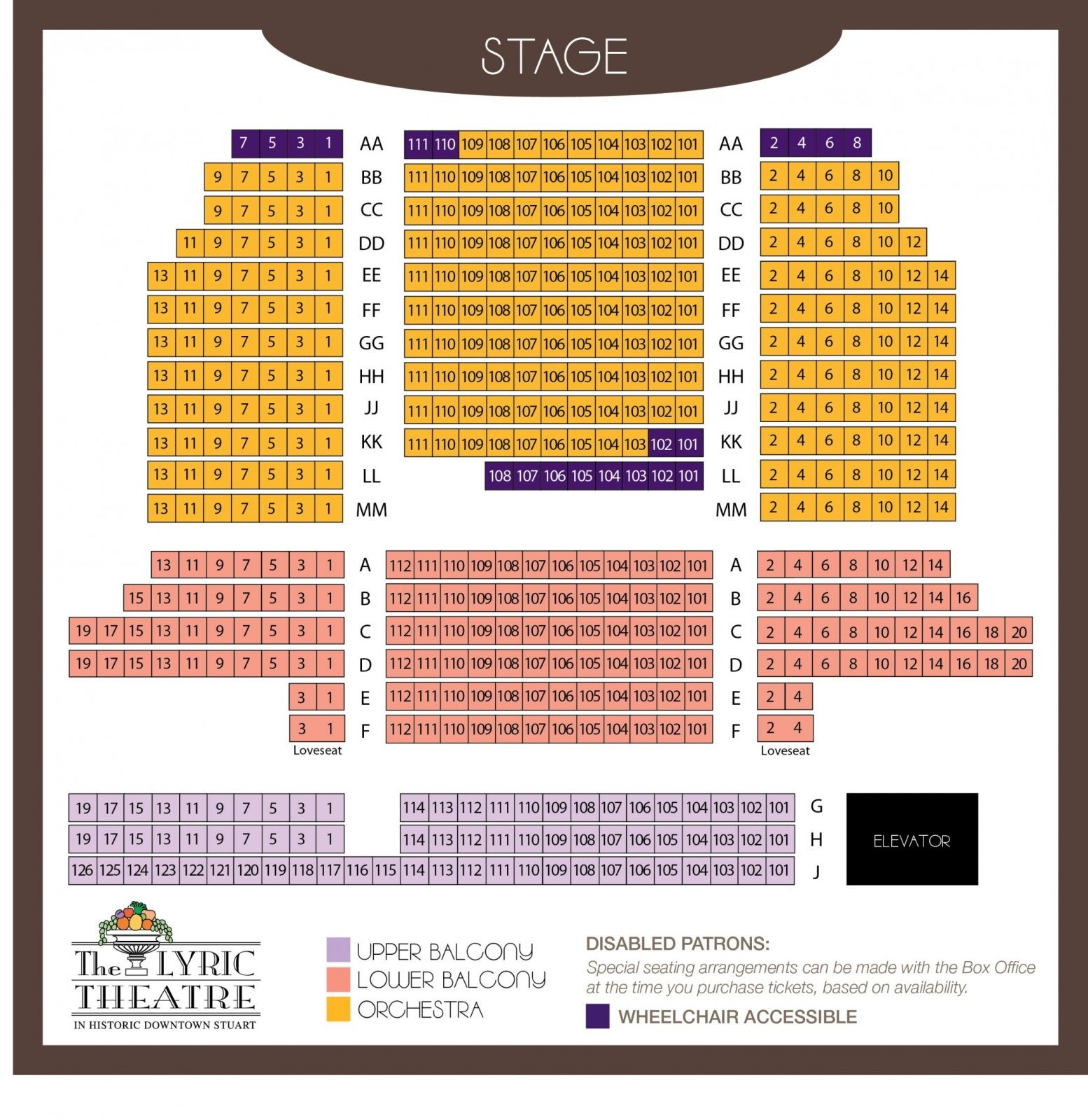 Theatre Specifications  The Lyric Theatre von Lyric Opera Seating Chart Photo