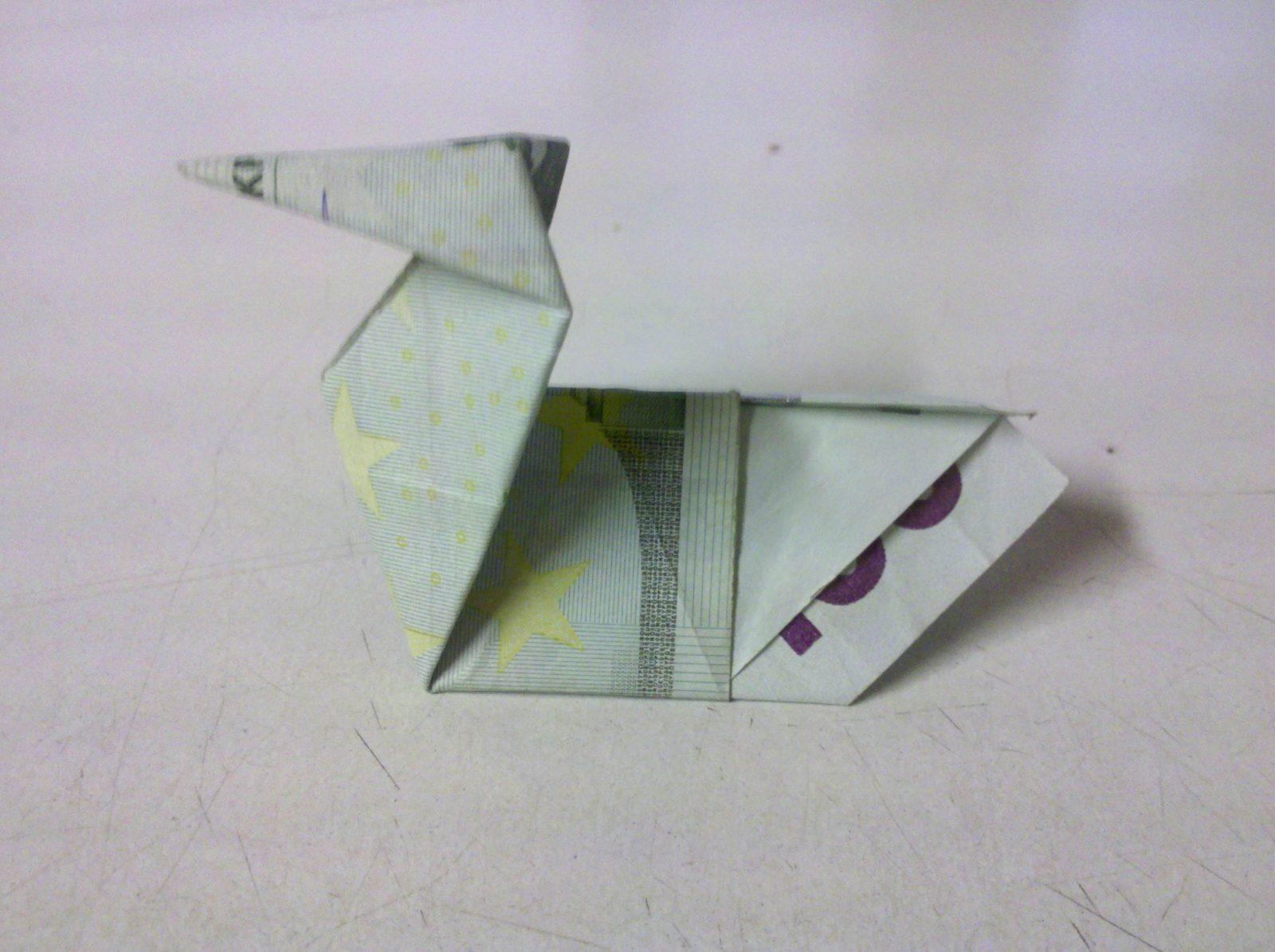 Tiere Aus Geldscheinen Falten  Tiere Falten  Origami Mit Geldscheinen von Maus Aus Geldschein Falten Photo