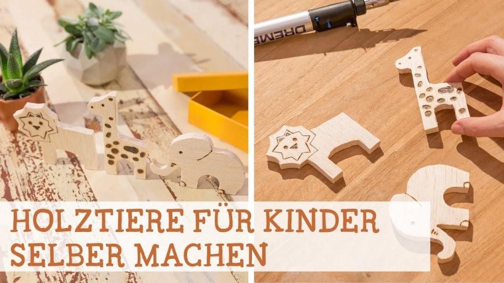 Tiere Für Kinder Aus Holz Selber Machen  Youtube von Holzfiguren Garten Selber Machen Photo