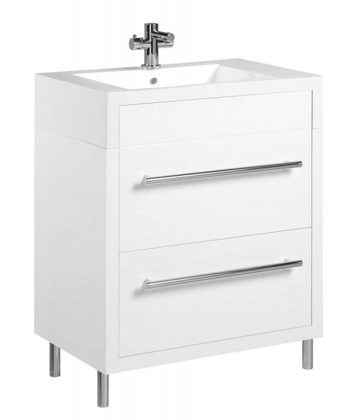 Tiger Serie Boston Waschtischunterschrank Weiß Mit Schubladen Br von Waschtisch Mit Unterschrank 50 Cm Photo