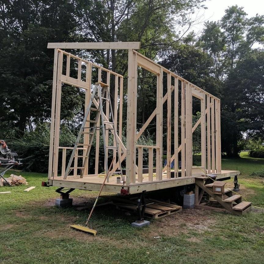 Tiny House Selber Bauen Planung Baugenehmigung Kosten  Garten In von Haus Selber Bauen Kosten Bild