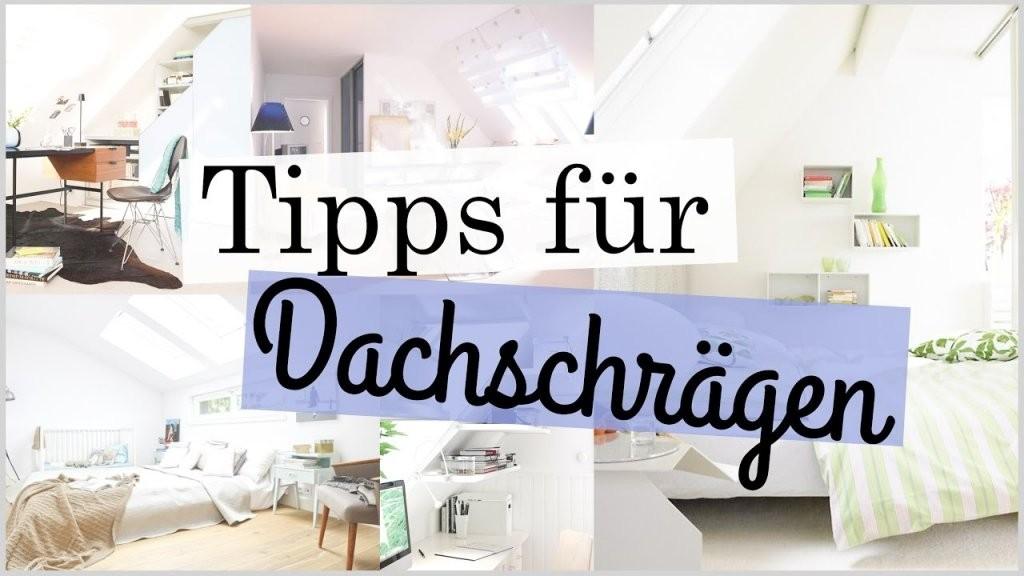 Tipps Für Zimmer Mit Dachschrägen  Deco Einrichtung Tipps Tricks von Deko Für Schräge Wände Bild