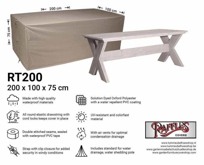 Tisch Abdeckung 200 X 100 Cm von Gartentisch Abdeckung 200 X 100 Photo