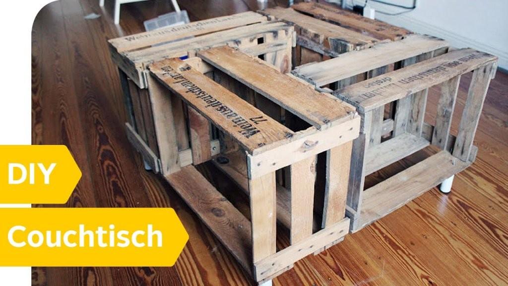 Tisch Aus Weinkisten  Couchtisch Selber Bauen  Otto von Kreative Möbel Selber Bauen Bild