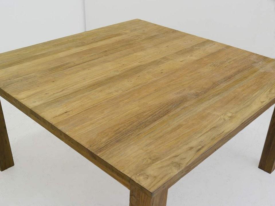 Tisch Esstisch Esszimmertisch Teakholz Massiv 48 Personen von Quadratischer Esstisch Für 8 Personen Photo