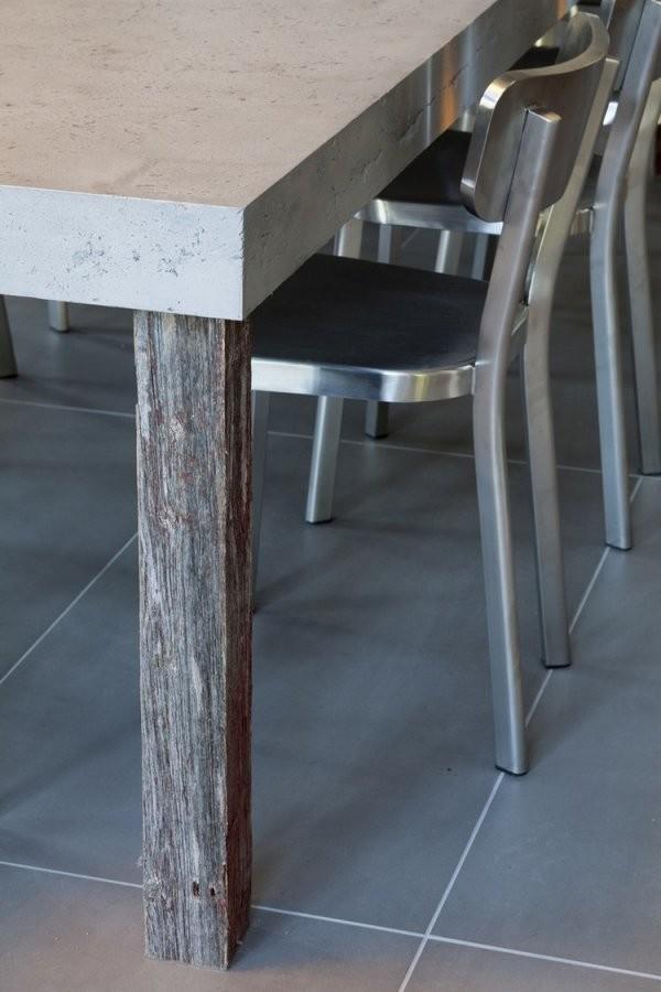 Tisch In Betonoptik Selber Machen  Ideen Mit Effektspachtel von Möbel In Betonoptik Streichen Bild