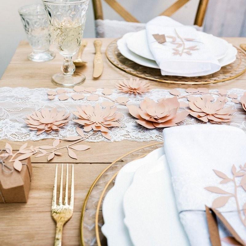 Tischdeko Hochzeit Blüten Rosa 3 St  Weddix von Tischdeko Hochzeit Vintage Rosa Photo