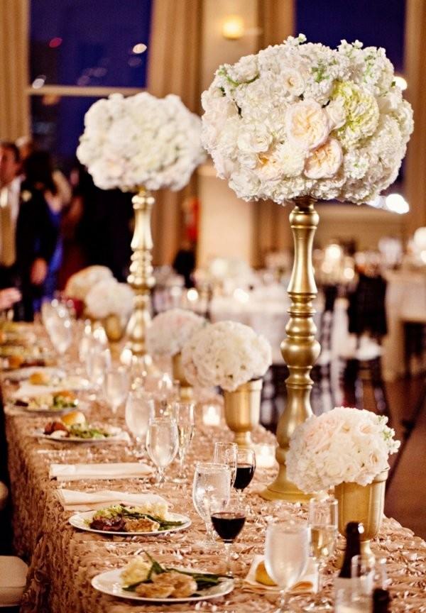 Tischdeko Zur Goldenen Hochzeit  25 Anregungen Fürs Fest von Tischdeko Zur Goldenen Hochzeit Photo