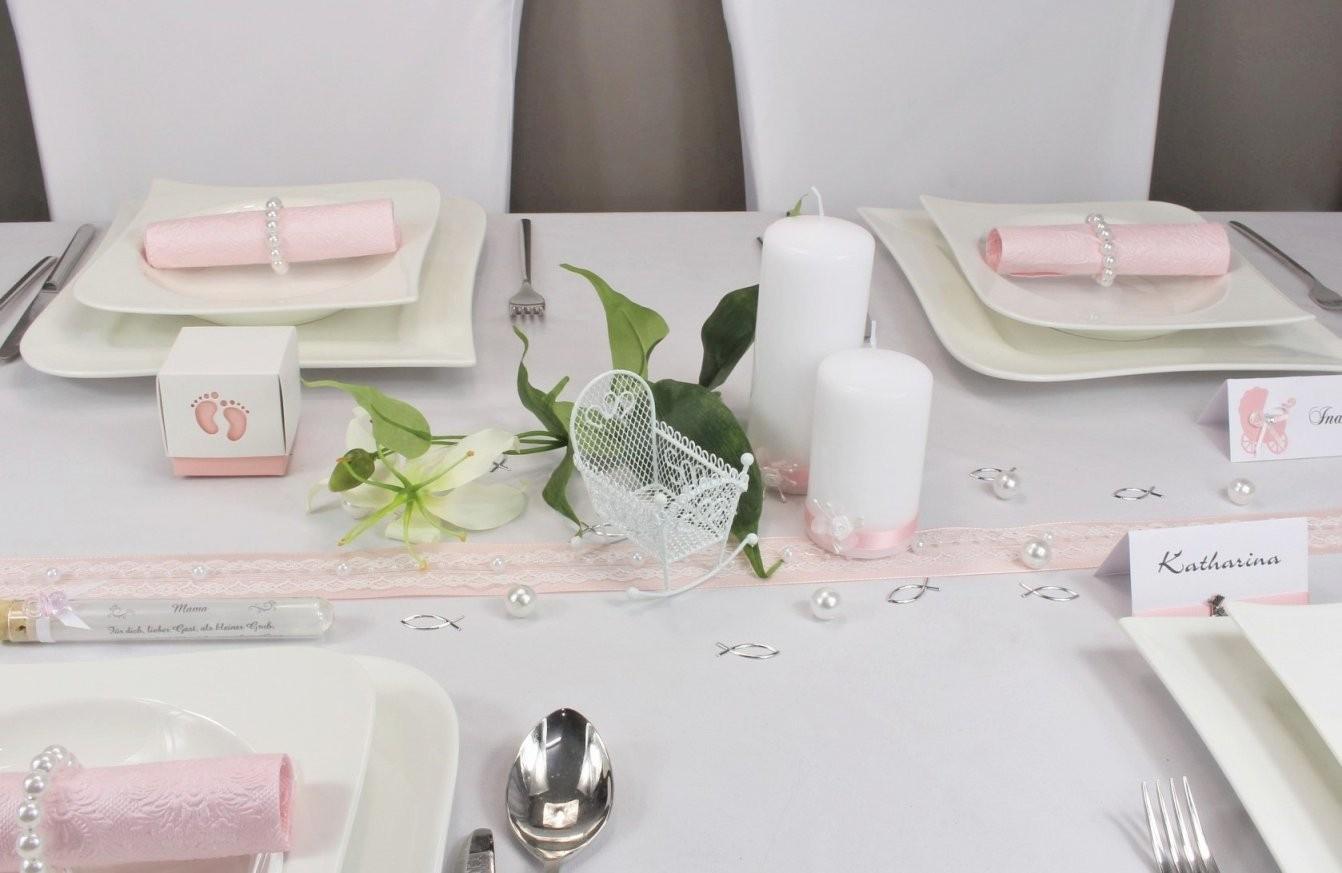 Tischdeko Zur Taufe Taufdeko Auf Mustertische Von Tischdekoonline von Taufe Deko Selber Machen Photo