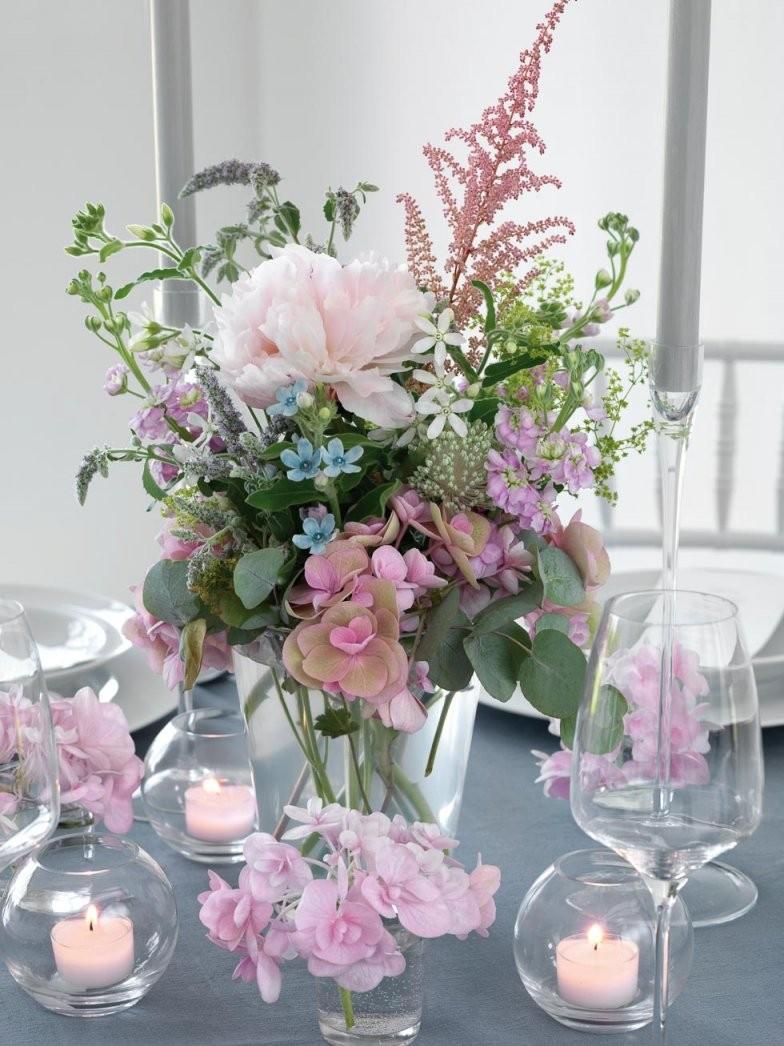 Tischdekoration Für Die Hochzeit – Über 250 Inspirationen von Tischdeko Hochzeit Vintage Rosa Bild