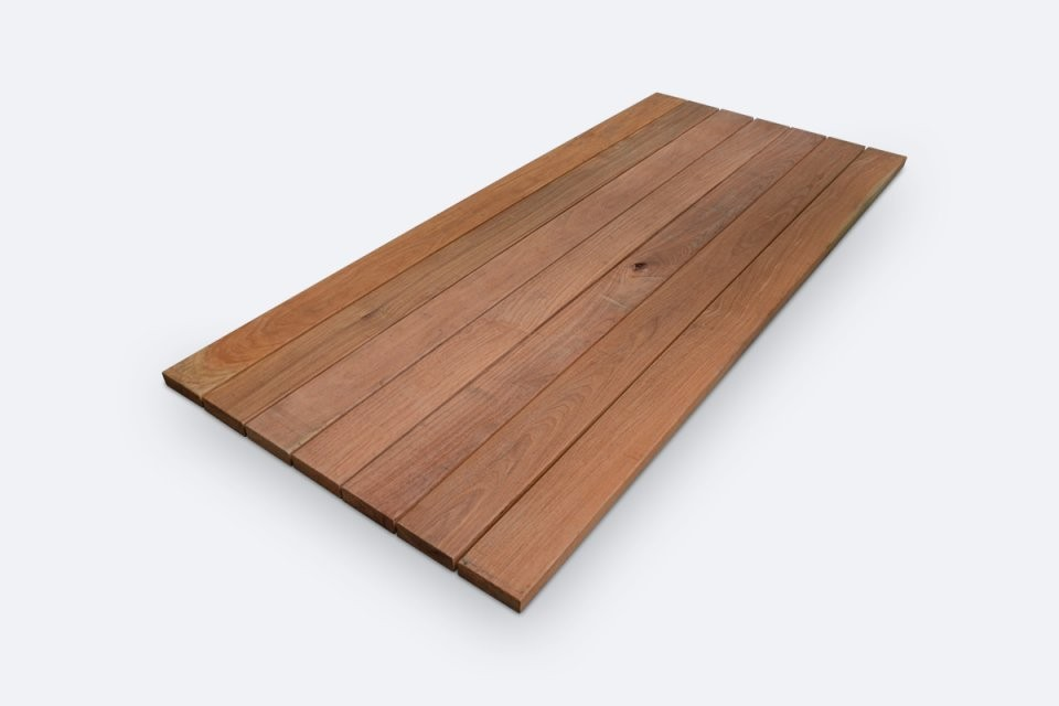 Tischfabrik24  Hartholz Garten Tischplatte Cumaru 4 Cm Nach Mas von Tischplatte Nach Maß Kunststoff Bild