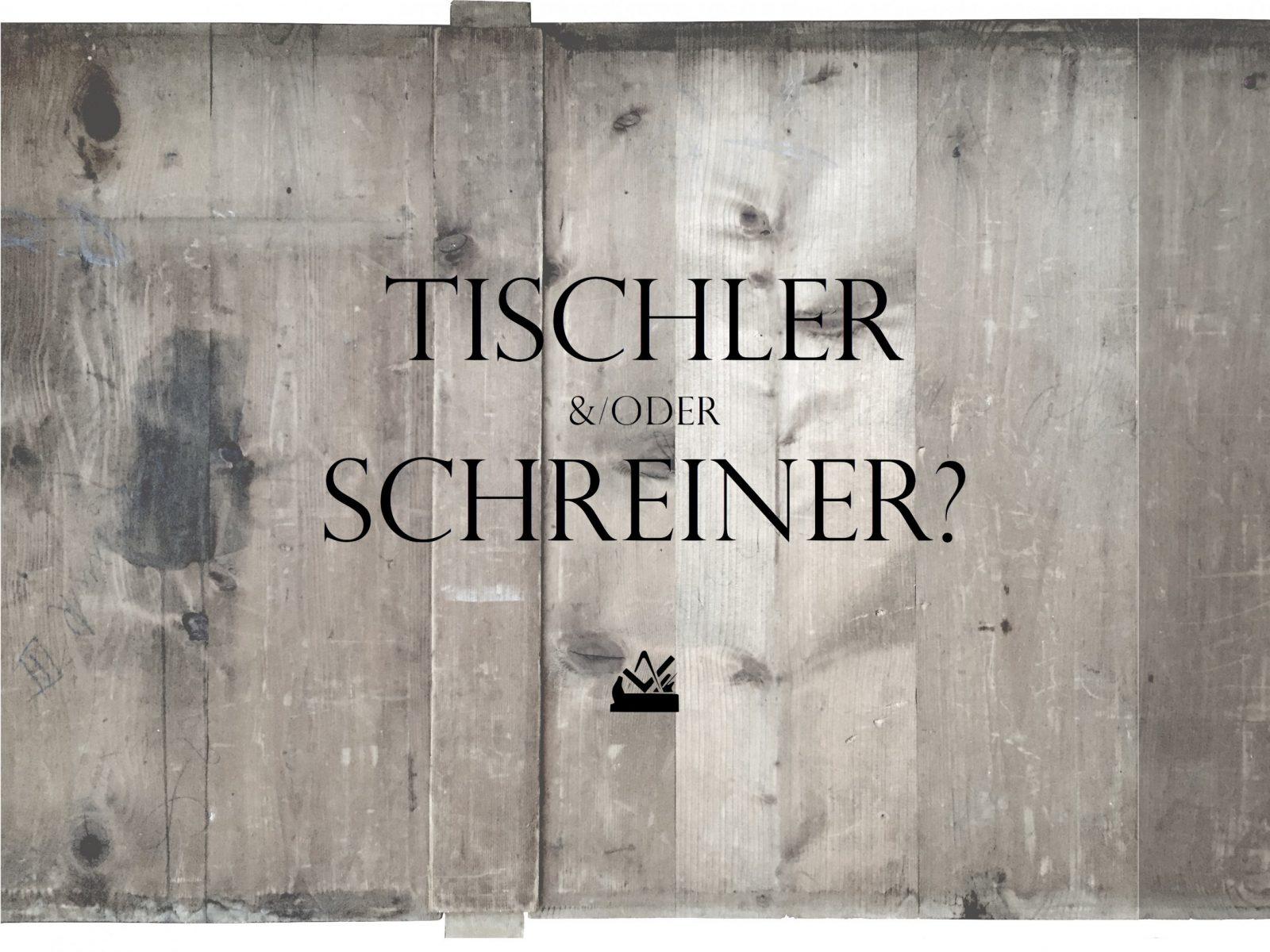 Tischler Oder Schreiner – Tischlermeister Jakob von Unterschied Zwischen Schreiner Und Tischler Photo