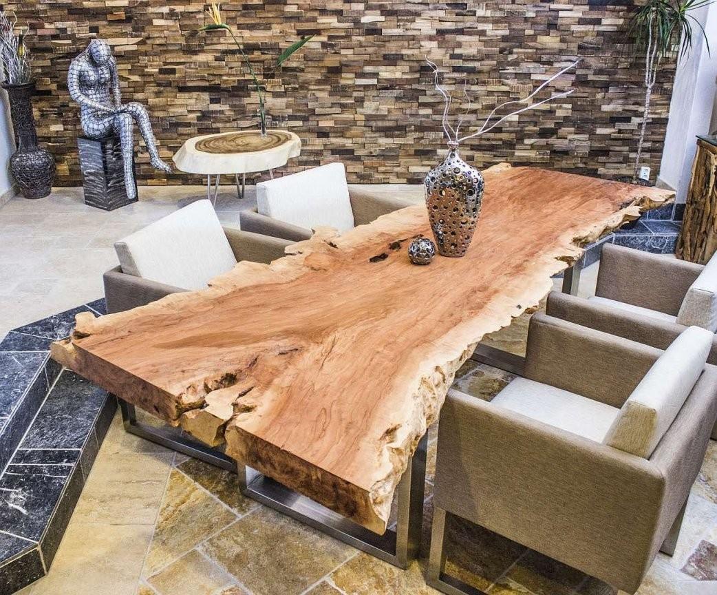 Tischplatte Litschi Baumscheibe  Wooden Tables  Tisch von Tisch Baumscheibe Selber Bauen Bild