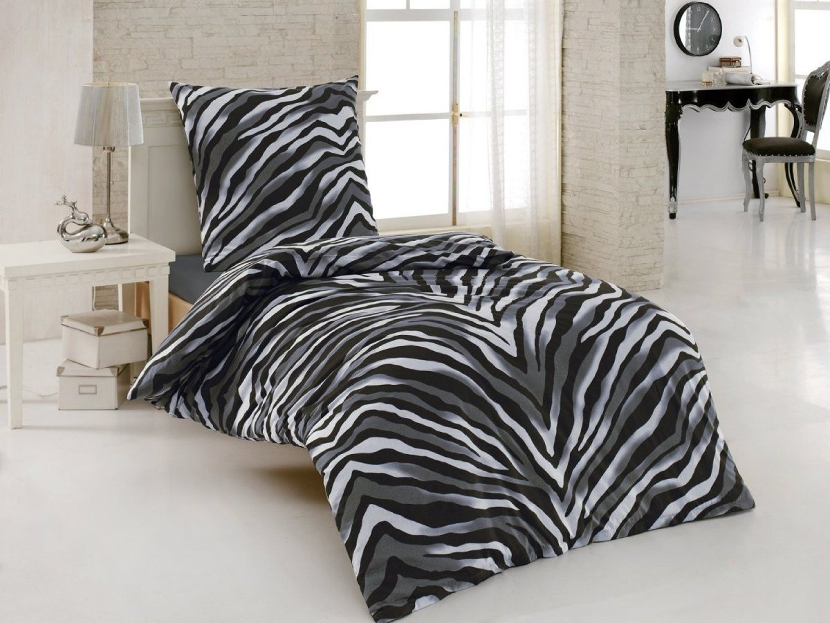 Tlgrenforce 155X220 Zebra Bettwäsche Baumwolle Cm 2 Schwarz 3Qaj54Rl von Winterengel Edelflanell Bettwäsche Winterdorf Bild