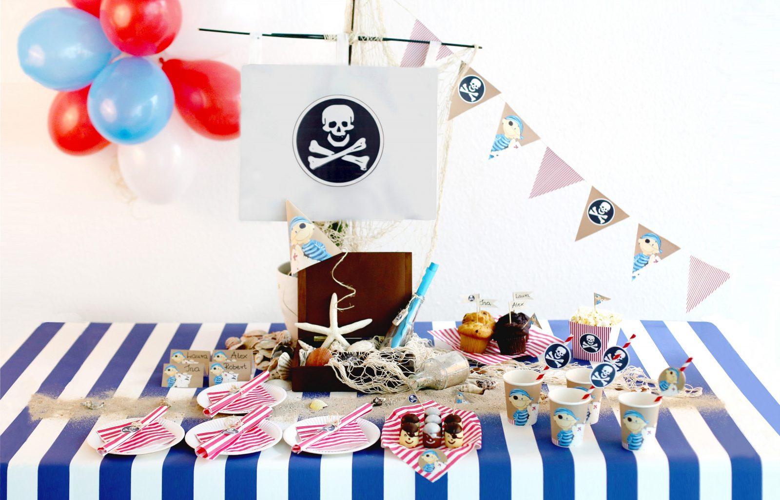 Tolle Deko Für Eine Gelungene Piratenparty  Wundermagazin von Tischdeko Kindergeburtstag Selber Basteln Photo