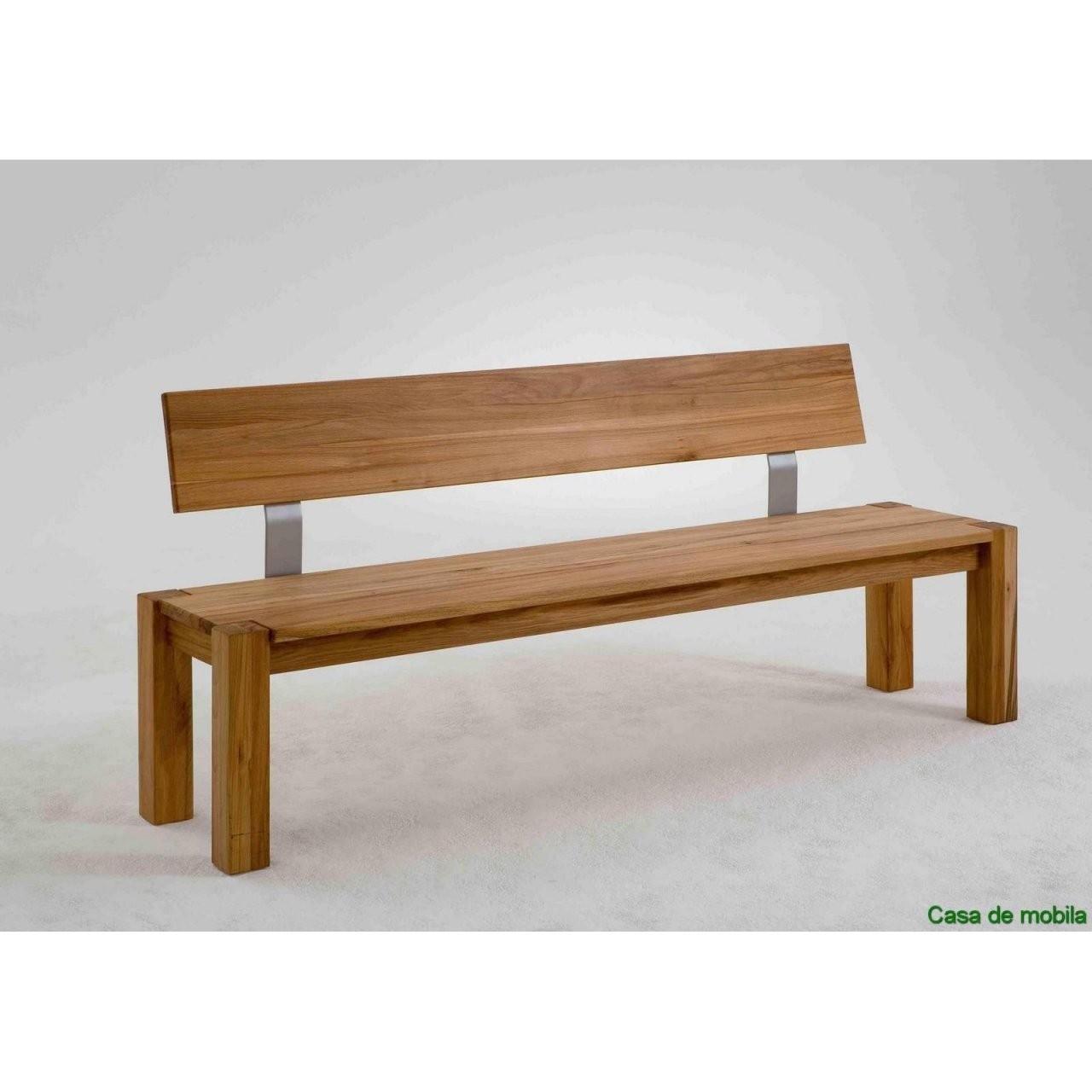 Tolle Sitzbank Massivholz Mit Lehne  Beautiful Benches  Sitzbank von Eckbank Mit Lehne Selber Bauen Photo