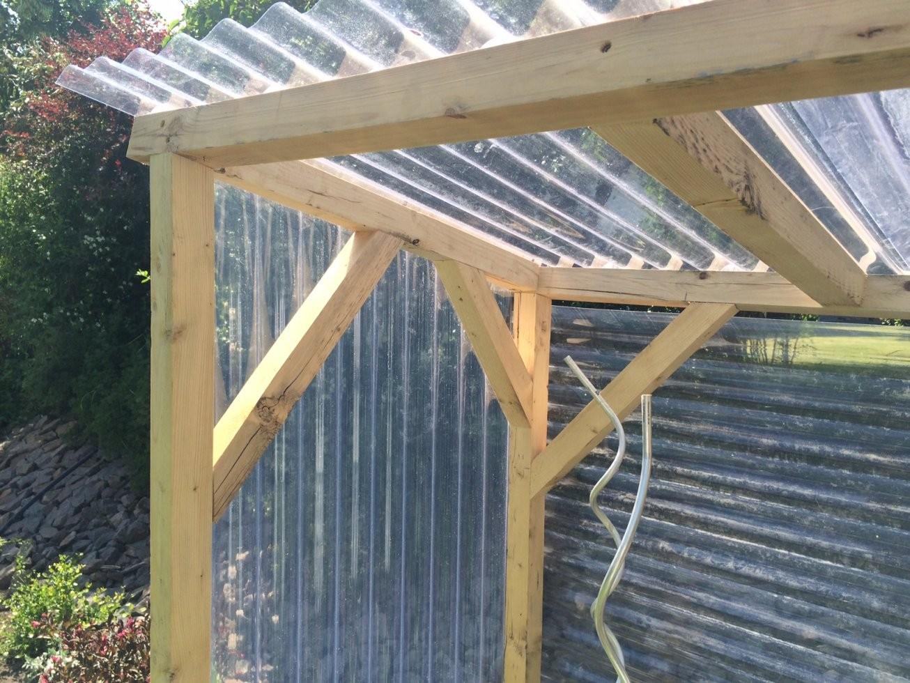 Tomatenhaus Selber Bauen – Unser Beispiel Und Bauanleitung von Vordach Selber Bauen Bauanleitung Photo
