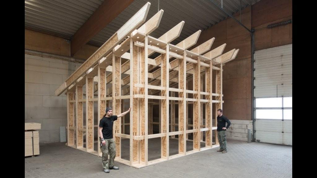 Trailer Vom Aufbau Typ B  Pultdach  Youtube von Pultdach Garage Selber Bauen Bild