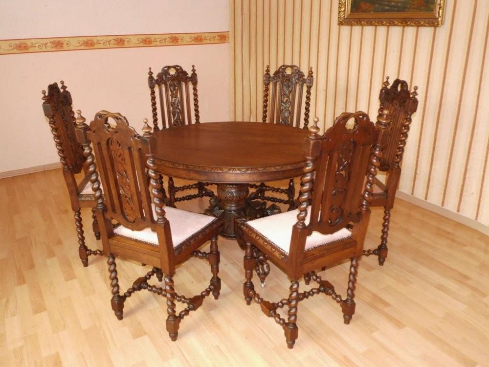 Transportkosten Und Preise Für Möbel von Antiker Esstisch Mit Stühlen Bild