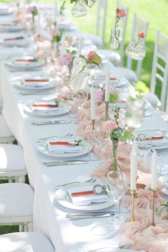 Traumhafte Vintage Hochzeit In Pastell Rosa Und Pfirsich von Tischdeko Hochzeit Vintage Rosa Bild