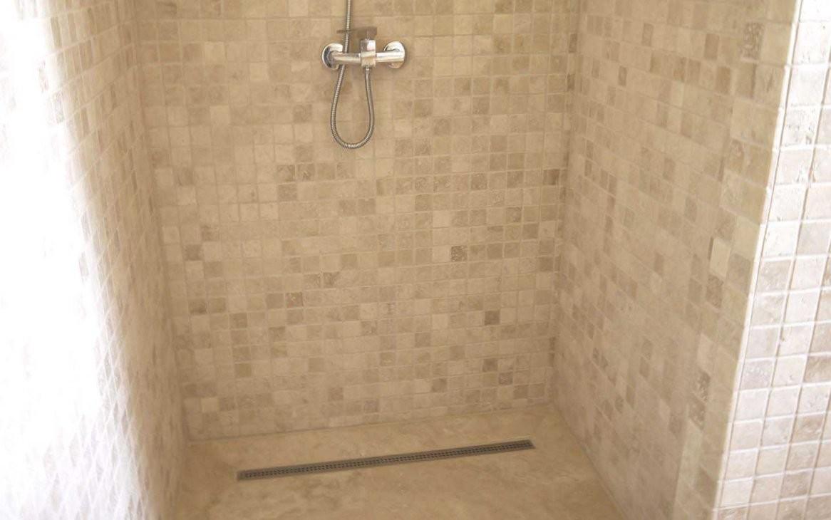 Travertin Naturstein Mosaikfliesen Bad Wand Und Boden von Mosaik Fliesen Dusche Boden Photo
