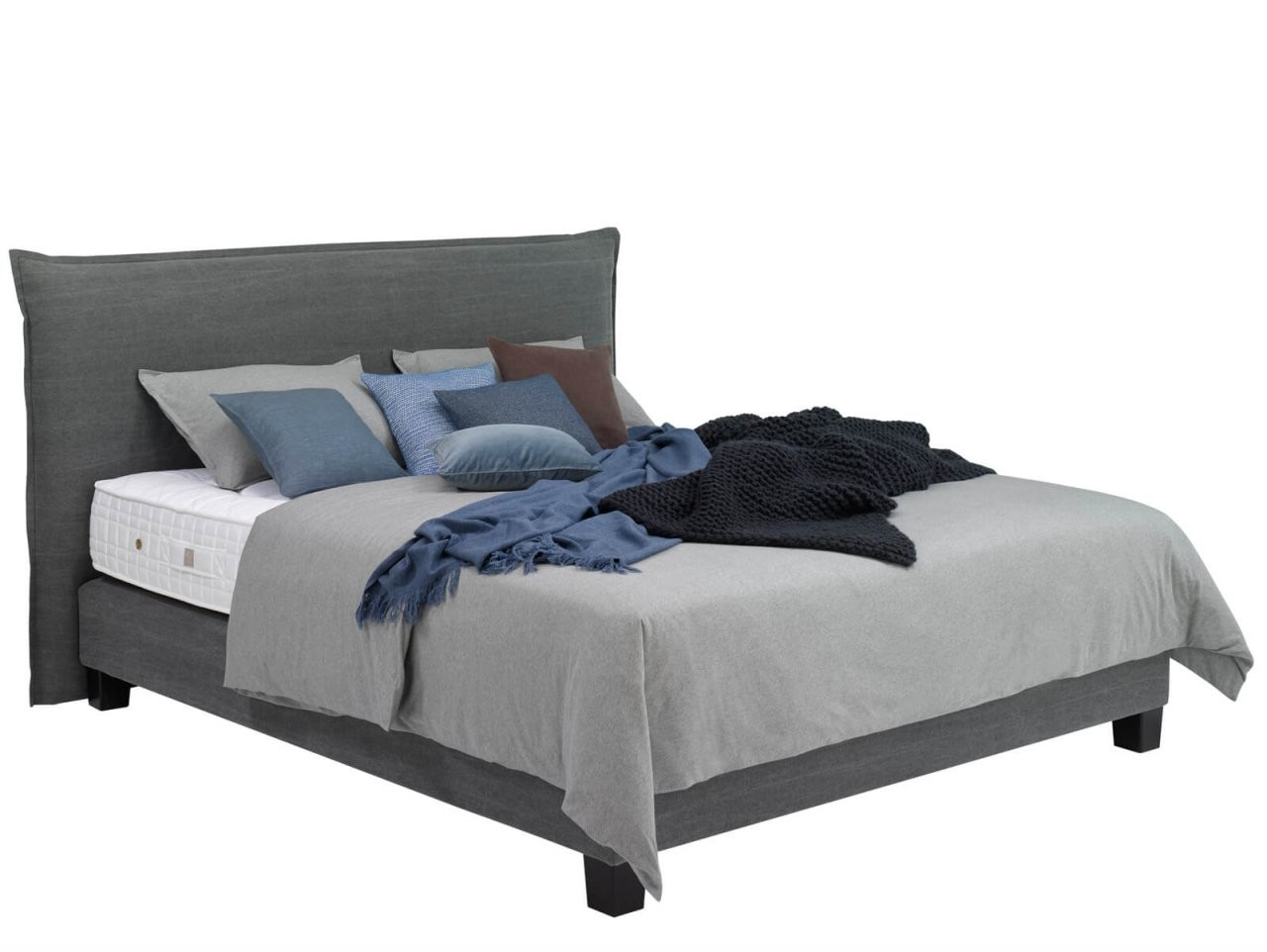 Treca 24Seven Smart  Boxspringbetten  Sleeping Art Schlafkonzepte von Boxspringbett Santa Barbara - Grau - 180X200 Cm Bild