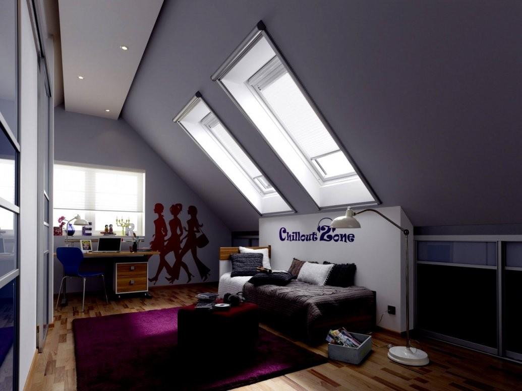 Trend Kinderzimmer Im Dach Mit Schrage Jugendzimmer Dachschräge Cool von Jugendzimmer Mit Dachschräge Gestalten Bild
