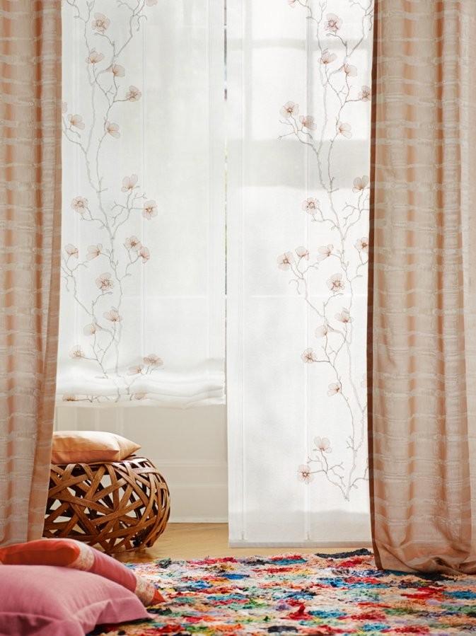 Trendcollage Living Coral  Ado Goldkante von Ado Gardinen Neue Kollektion Bild