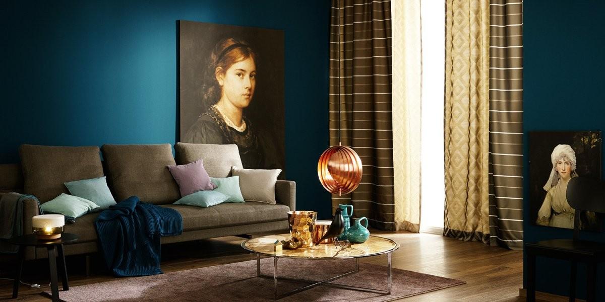 Trendfarben Für Einzelne Wände  Moebel von Schöner Wohnen Farbe Petrol Photo