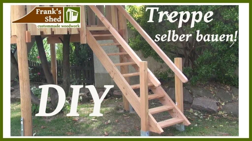 Treppe Aus Holz Selber Bauen  Diy Holztreppe Anleitung In Bezug Auf von Außentreppe Selber Bauen Holz Photo