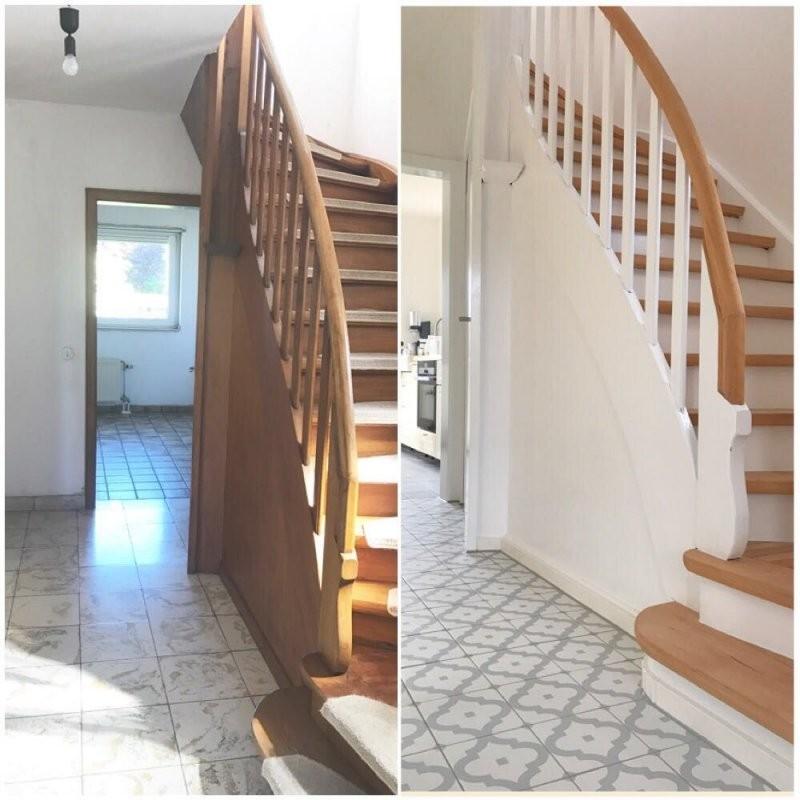 Treppe Vorher Nachher Diy Renovierung Altbau  Sweet Home In 2019 von Häuser Renovieren Vorher Nachher Bild