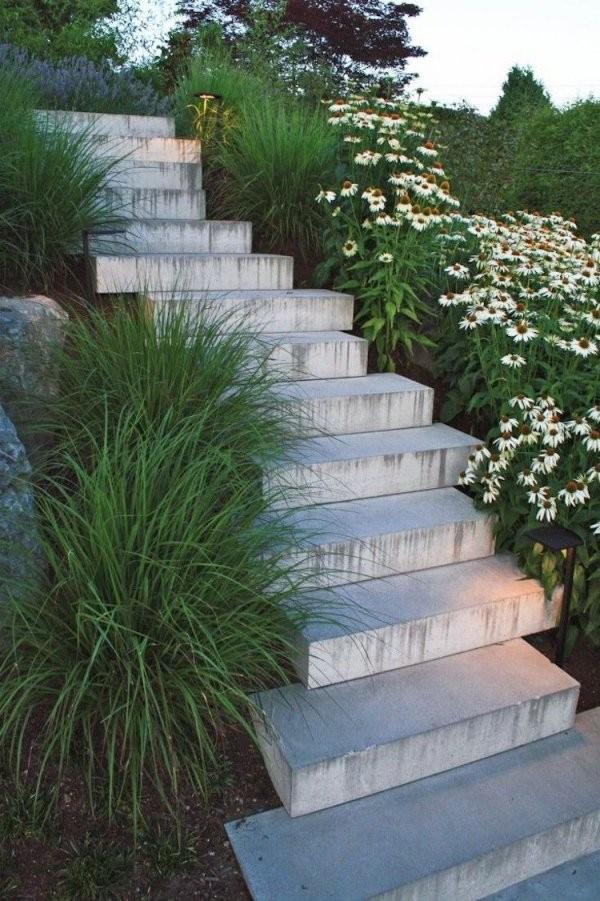 Treppen Im Garten Hanglage Zum Gartentreppe Selber Bauen Naturstein von Treppe Im Garten Selbst Bauen Photo
